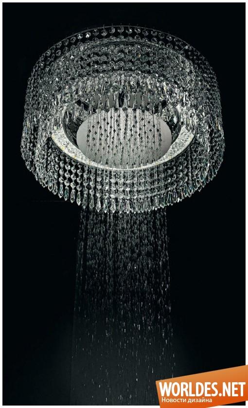 дизайн ванной комнаты, дизайн душа, душ, душ в виде люстры, оригинальный душ, роскошный душ, красивый душ, необычный душ, современный душ