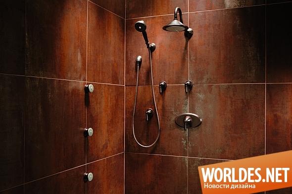 дизайн ванной комнаты, дизайн душевой, ванная комната, ванная комната в стиле ретро, душевая в стиле ретро