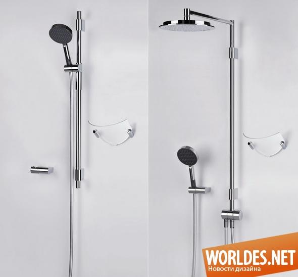 дизайн ванной комнаты, дизайн душа, душ, душевые комплекты, современные душевые комплекты