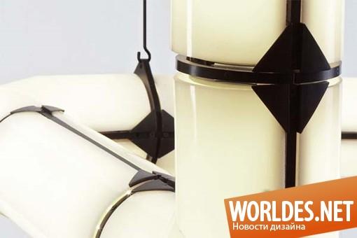дизайн, декоративный дизайн, дизайн лампы, дизайн освещения, лампа, светодиодное освещение, Endless – светодиодное освещение от Джейсона Миллера