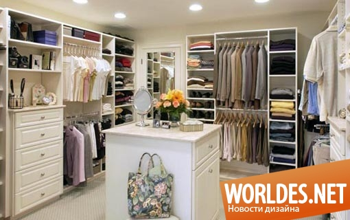дизайн интерьера, дизайн интерьеров, интерьер, дизайн гардеробной, гардеробная, большая гардеробная, современная гардеробная, красивая гардеробная