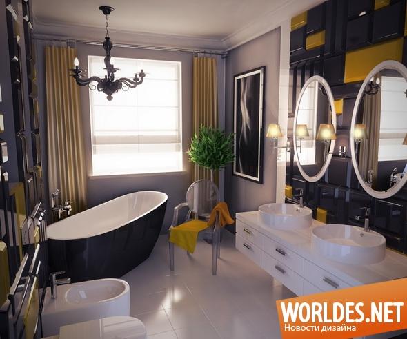дизайн ванной комнаты, ванная комната, гламурная ванная комната, красивая ванная комната, оригинальная ванная комната