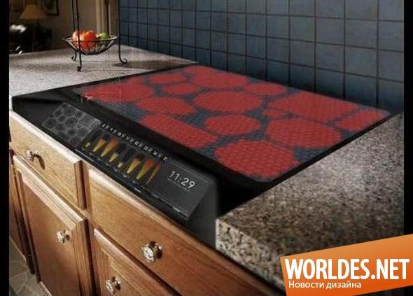 дизайн кухни, дизайн кухонной плиты, кухонная плита, индукционная плита, современная кухонная плита, практичная кухонная плита