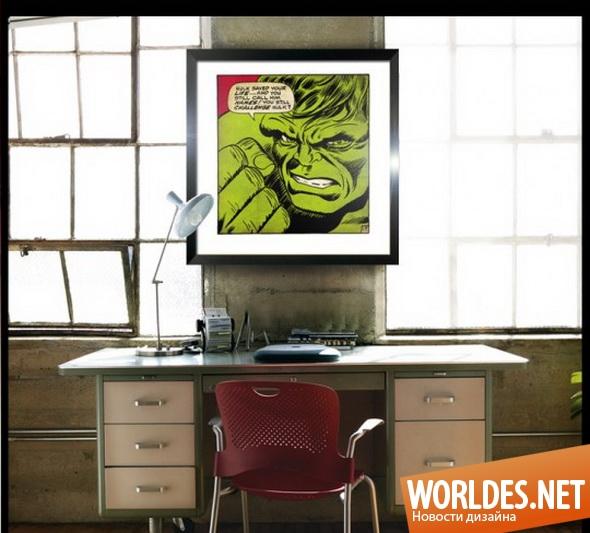декоративный дизайн, дизайн картин, картины, образы, комиксы