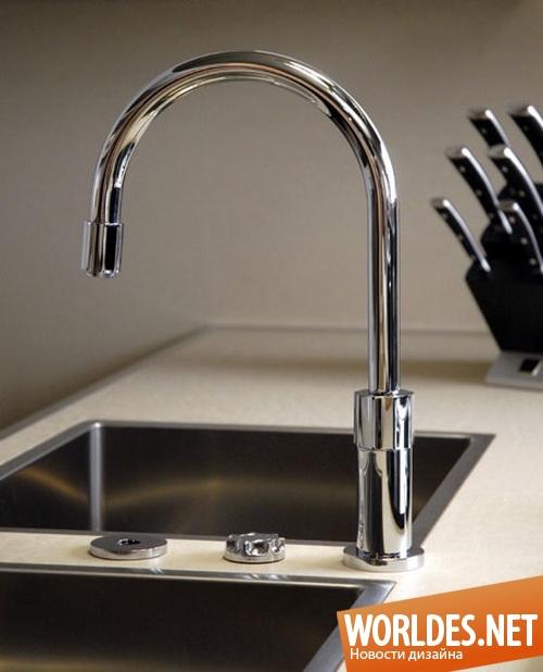 дизайн кухни, дизайн кранов для кухни, смесители, краны, краны для воды, кухонные краны