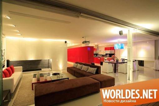 дизайн интерьеров, дизайн интерьера, дизайн интерьера квартиры, дизайн квартиры, дизайн пентхауса, квартира, пентхаус, современная квартира, стильная квартира, просторная квартира, светлая квартира, квартира со стеклянным полом и стенами
