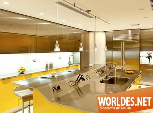 дизайн, дизайн кухни, дизайн кухонной комнаты, дизайн современной кухни, дизайн желтой кухни, кухня, современная кухня, желтая кухня, кухня в цвет солнца