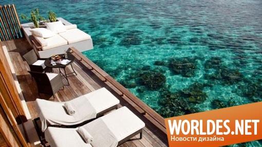 архитектурный дизайн, дизайн курорта, дизайн вилл, дизайн курортных вилл, курорт на Мальдивах