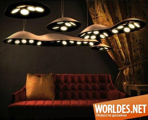 декоративный дизайн, декоративный дизайн ламп, дизайн современных ламп, лампы, современные лампы, люстры, подвесные лампы, красивые лампы, лампы в виде облака, оригинальные лампы