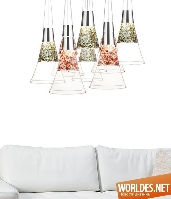 декоративный дизайн, декоративный дизайн ламп, дизайн ламп, дизайн освещения, лампы, оригинальные лампы, люстры, лампы в виде шампанского