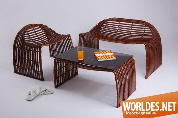дизайн мебели, дизайн мебели для сада, дизайн садовой мебели, мебель для сада, садовая мебель, плетеная садовая мебель