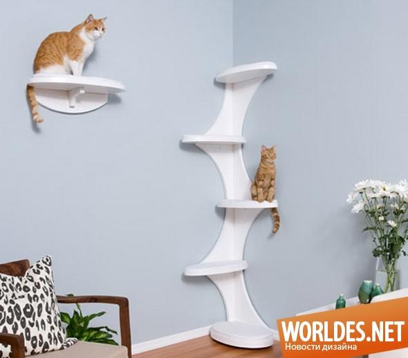 дизайн мебели, мебель, мебель для кошек, полки, полки для кошек, место для кошек, игровая для кошек