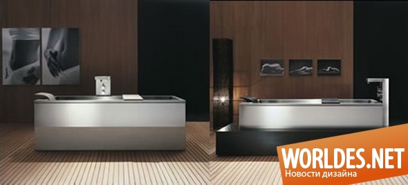 дизайн ванной комнаты, дизайн ванной, ванная комната, современная ванная комната, ванна, современная ванна, металлическая ванна