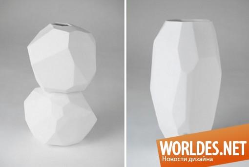 декоративный дизайн, декоративный дизайн ваз, дизайн ваз, вазы, современные вазы, оригинальные вазы, красивые вазы, минималистские вазы