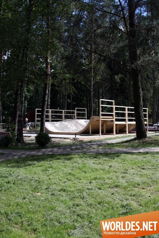 дизайн, ландшафтный дизайн, дизайн сада, дизайн скейтбординга, скейтбординг, скейтбординг в саду