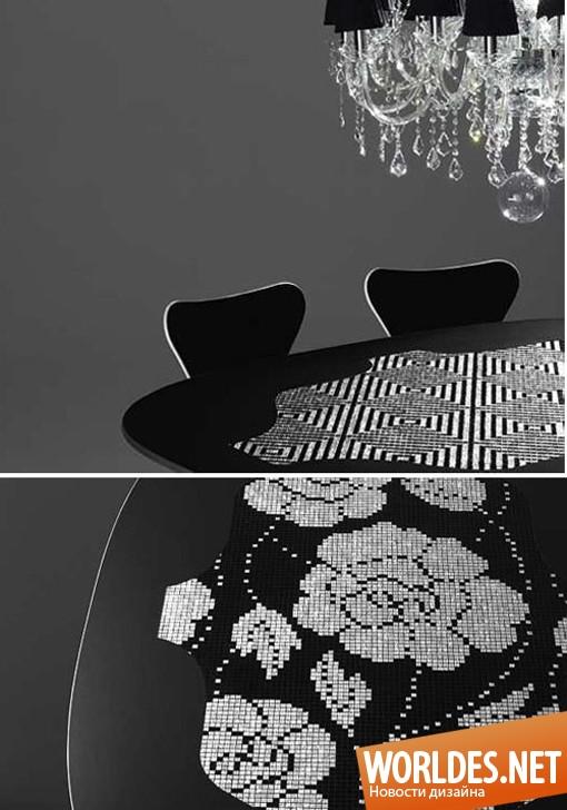 дизайн мебели, дизайн столов, дизайн стола, стол, столы, красивые столы, оригинальные столы, мозаичные столы