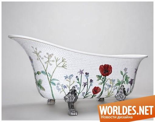 дизайн, дизайн ванной комнаты, дизайн ванной, дизайн мозаичной ванной, ванная, мозаичная ванная, мозаичные ванны от MosaicSweden