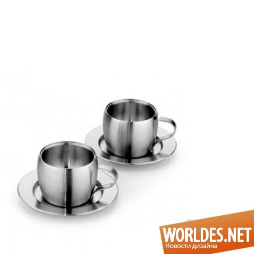 дизайн аксессуаров, дизайн аксессуаров для кухни, дизайн кухонных аксессуаров, дизайн набора чашек, набор кофейных чашек, чашки, кофейные чашки, стальные чашки, кофейные чашки из стали