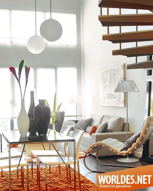 дизайн интерьера, дизайн интерьеров, дизайн интерьера лофта, лофт, чердак, обустроенный чердак, яркий чердак, современный чердак
