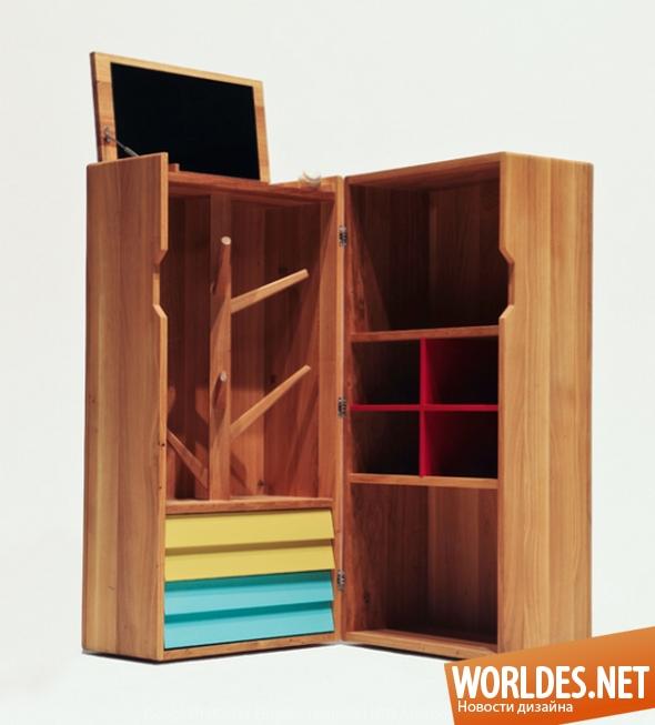 дизайн мебели, дизайн шкафа, шкаф, мебель, современный шкаф, оригинальный шкаф, деревянный шкаф, необычный деревянный шкаф