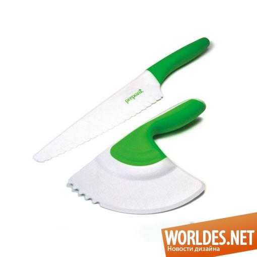 дизайн аксессуаров, дизайн аксессуаров для кухни, дизайн кухонных аксессуаров, дизайн ножей, ножи, ножи для салата, пластиковые ножи, практичные ножи