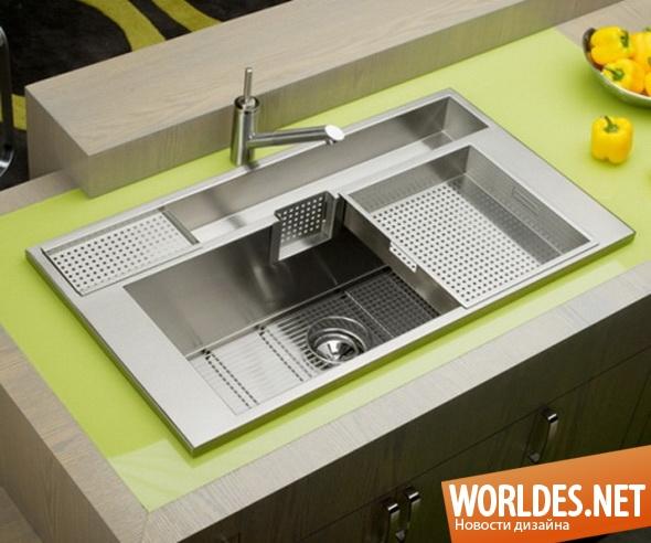 дизайн кухни, дизайн раковин, дизайн раковин для кухни, раковина, раковина для кухни, практичная раковина для кухни, современная раковина для кухни