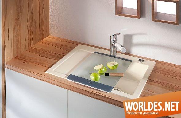 дизайн кухни, дизайн раковины для кухни, кухня, современная кухня, кухонные раковины, однокамерные раковины, современные однокамерные раковины