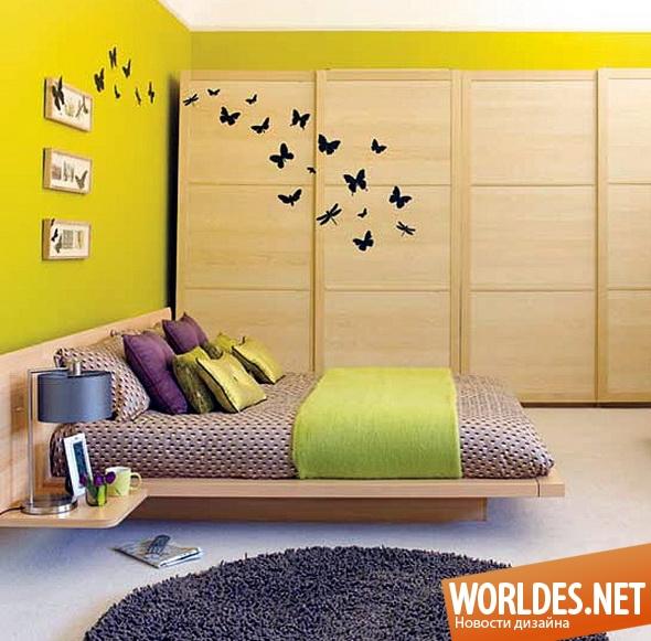 дизайн интерьера, дизайн интерьеров, дизайн интерьера спальни, спальня, оформление спальни, украшение спальни