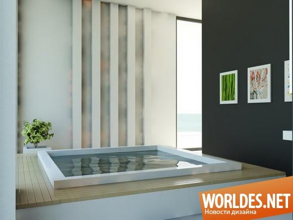 дизайн ванной комнаты, ванная комната, современная ванная комната, ванная, современная ванная, ванна, оригинальная ванна, оригинальная ванная комната