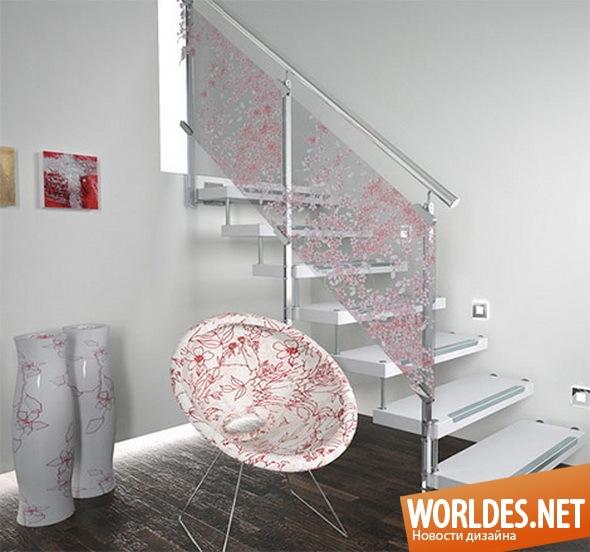 декоративный дизайн, декоративный дизайн лестниц, дизайн лестницы, лестница, стеклянная лестница, красивая лестница, современная лестница