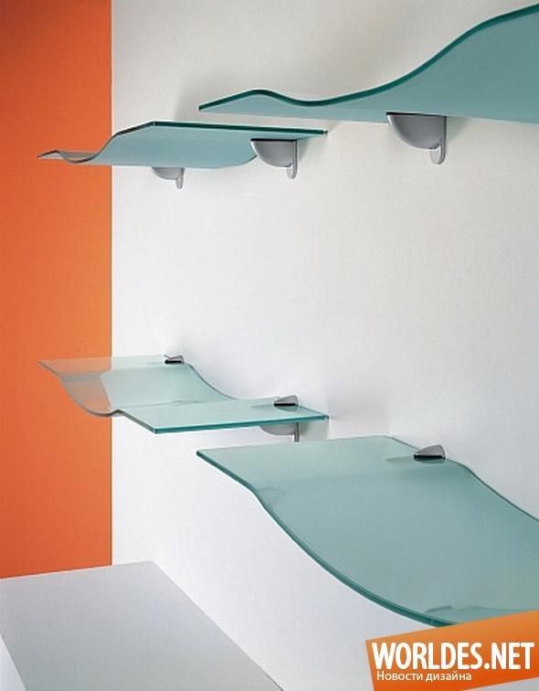 дизайн мебели, дизайн полок, мебель, полки, современная мебель, стеклянная мебель, стеклянные полки, современные полки, оригинальные стеклянные полки