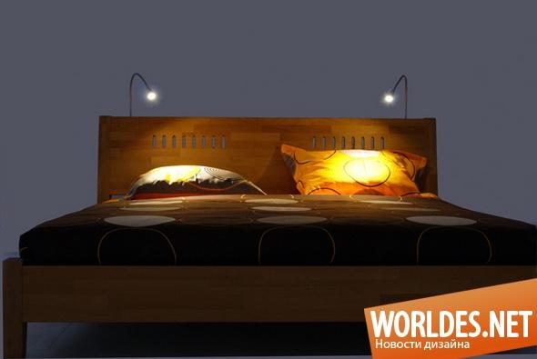 декоративный дизайн, декоративный дизайн освещения, дизайн освещения, освещение кровати