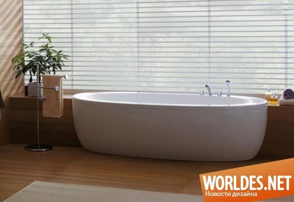 дизайн ванной комнаты, дизайн ванной, ванная, ванная комната, овальная ванна, овальные ванны, современная ванна, овальные ванны в современном интерьере