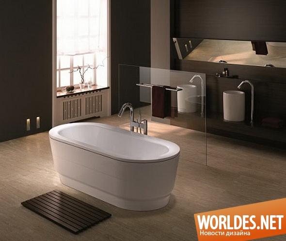 дизайн ванной комнаты, дизайн ванной, ванная, ванна, овальная ванна, красивая ванна, удобная ванна, современная ванна