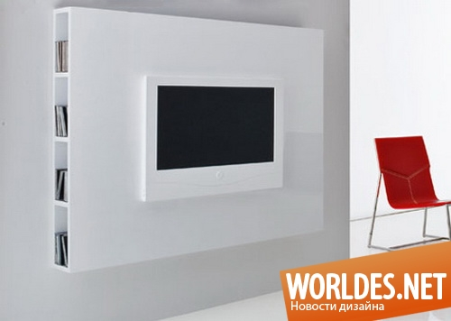 дизайн мебели, панель для установки телевизора на стене, панель для телевизора