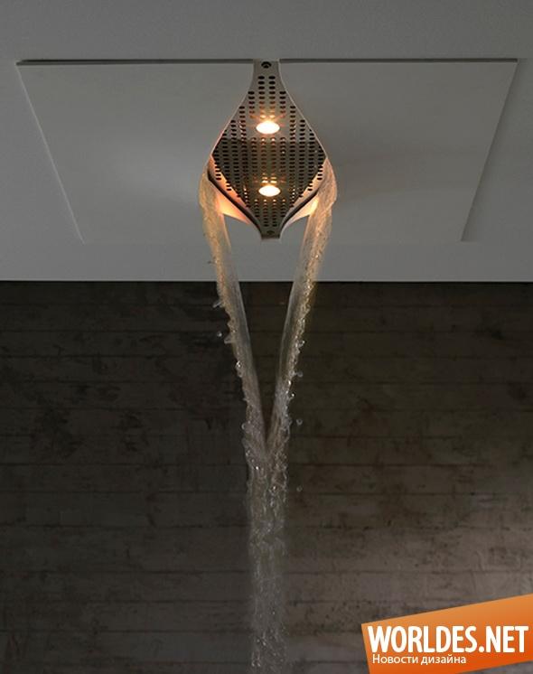 дизайн ванной комнаты, дизайн душа, душ, современный душ, подвесной душ