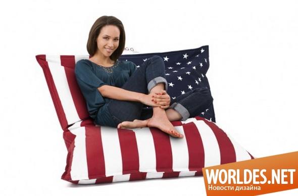 дизайн мебели, дизайн кресел, кресла, необычные кресла, подушки для сидения, современные подушки для сидения