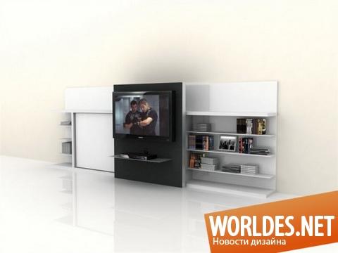 дизайн мебели, дизайн полки для телевизора, мебель, полка для телевизора