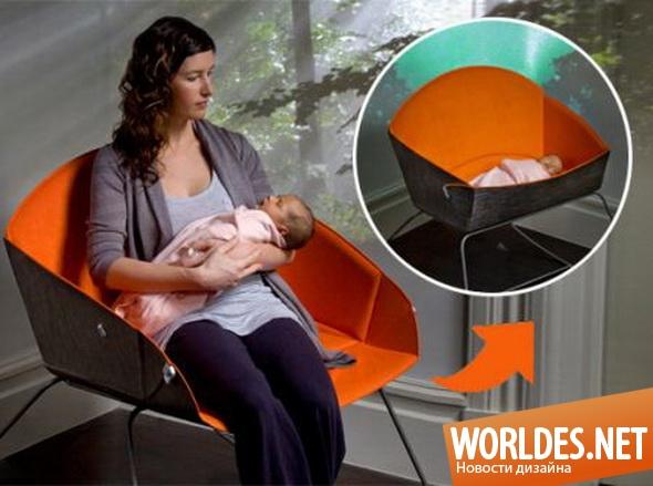 дизайн мебели, дизайн колыбели, мебель, детская мебель, колыбель, колыбель для ребенка, практичная колыбель для ребенка