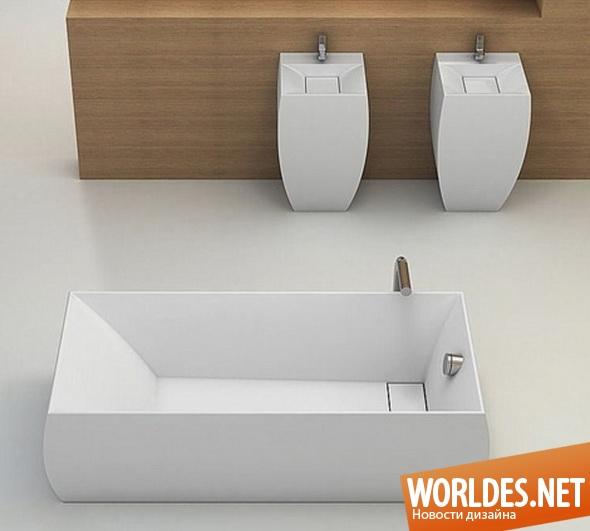 дизайн ванной комнаты, дизайн ванной, дизайн ванны, дизайн умывальников, дизайн прямоугольной ванны, ванна, прямоугольная ванна, прямоугольные умывальники