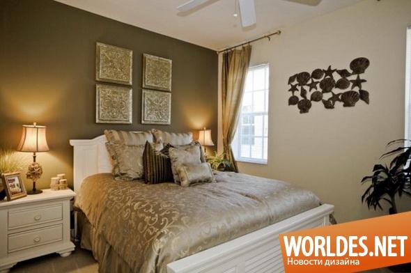 дизайн интерьеров, дизайн интерьера спальни, спальня, современные спальни, проекты современных спален, уютные спальни