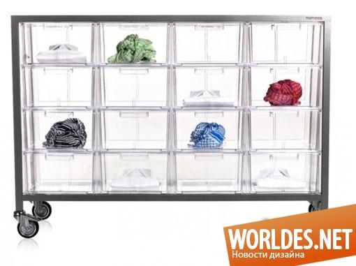 дизайн мебели, дизайн шкафа, шкаф, акриловый шкаф, прозрачный шкаф, практичный шкаф, современный шкаф, красивый шкаф