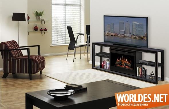 дизайн мебели, дизайн столика, мебель, современная мебель, столик, столик под телевизор, столик с камином, rtv столик, RTV столик с камином