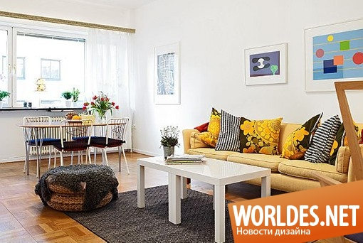 дизайн интерьера, дизайн интерьеров, дизайн интерьера квартиры, квартира, интерьер квартиры, современный интерьер квартиры, современная квартира, уютная квартира, радостная двухкомнатная квартира