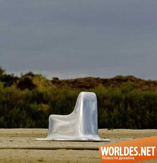 дизайн мебели, дизайн кресла, дизайн оригинального кресла, кресло, оригинальное кресло, практичное кресло, необычное кресло, современное кресло, расплавленное кресло
