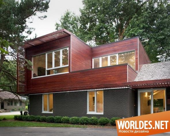 архитектурный дизайн, архитектурный дизайн дома, дом, современный дом, расширение дома, измененный дом, перестроенный дом