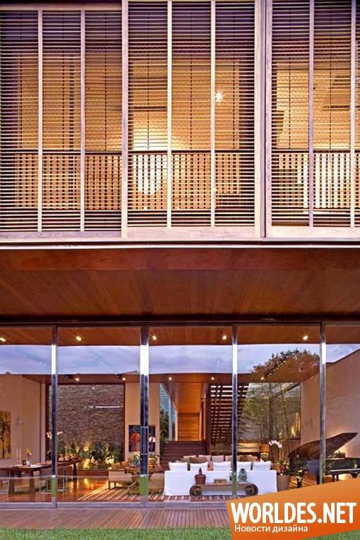 архитектурный дизайн, архитектурный дизайн дома, архитектурный дизайн резиденции, дизайн дома, дизайн резиденции, дом,  резиденция, современная резиденция, резиденция в Сан-Паулу