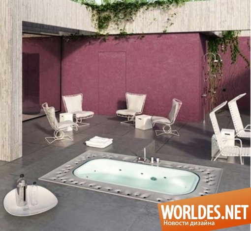 дизайн ванной комнаты, дизайн ванной, ванна, современная ванна, оригинальная ванна, роскошная ванна, спа