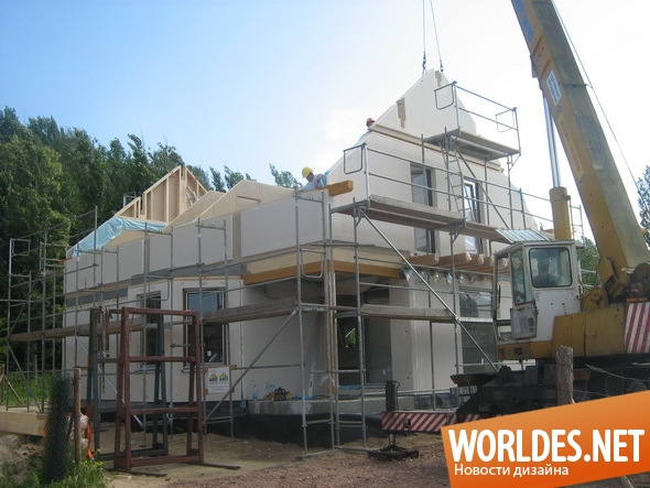 архитектурный дизайн, архитектурный дизайн дома, дома, дом, сборный дом, панельный дом, современный дом