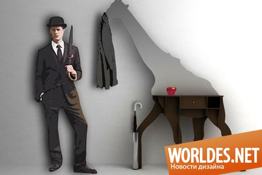 дизайн мебели, дизайн шкафа, шкаф, современный шкаф, функциональный шкаф, практичный шкаф, необычный шкаф, оригинальный шкаф, шкаф в виде жирафа